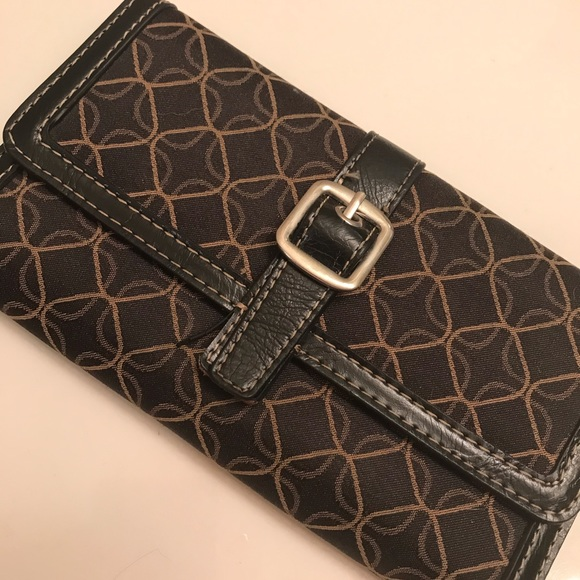 None Handbags - A fashionable brown tan and black wallet!